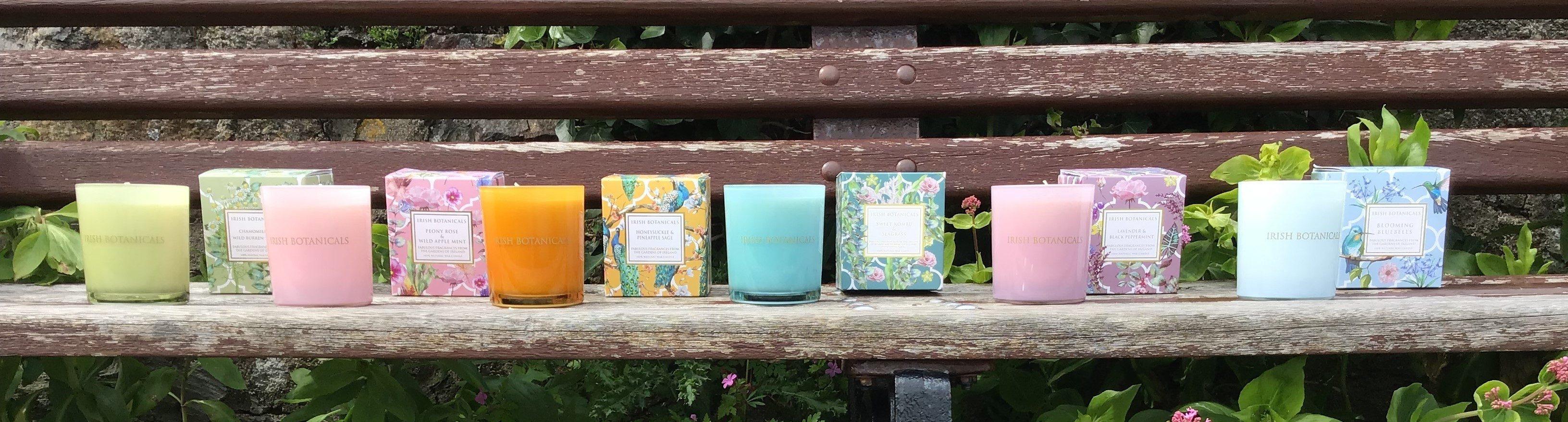 Candle jars Irish Botanicals